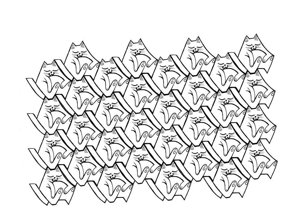 Animal tessellation patterns on Behance