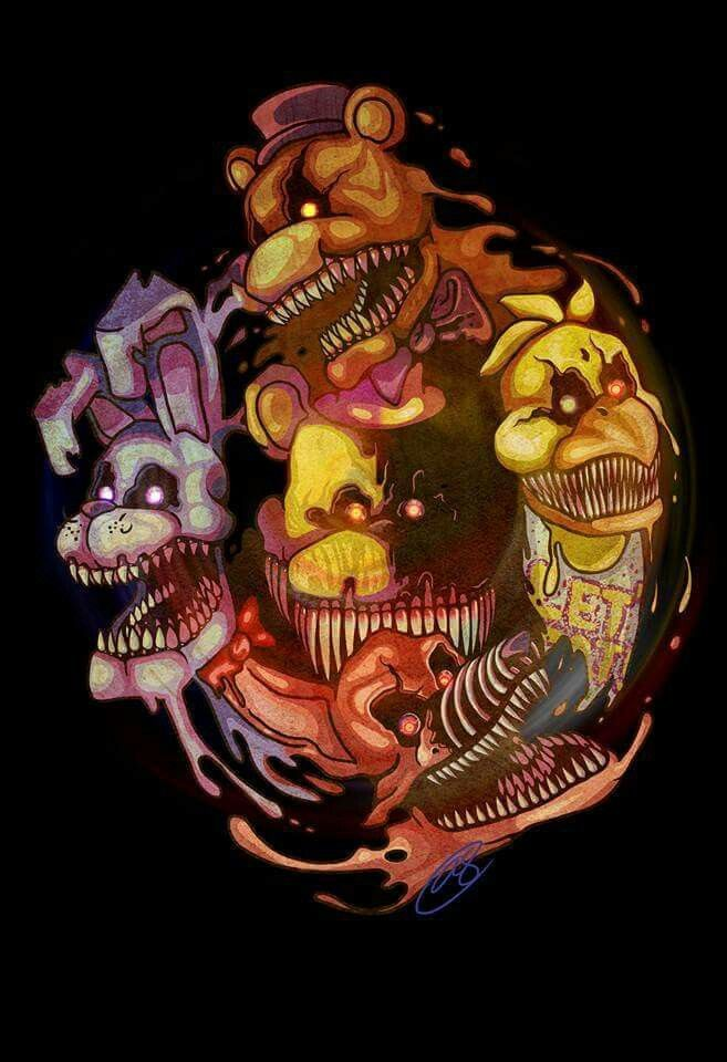 Nightmares animatronics | fnaf | Fnaf, Fnaf drawings, Five nights at