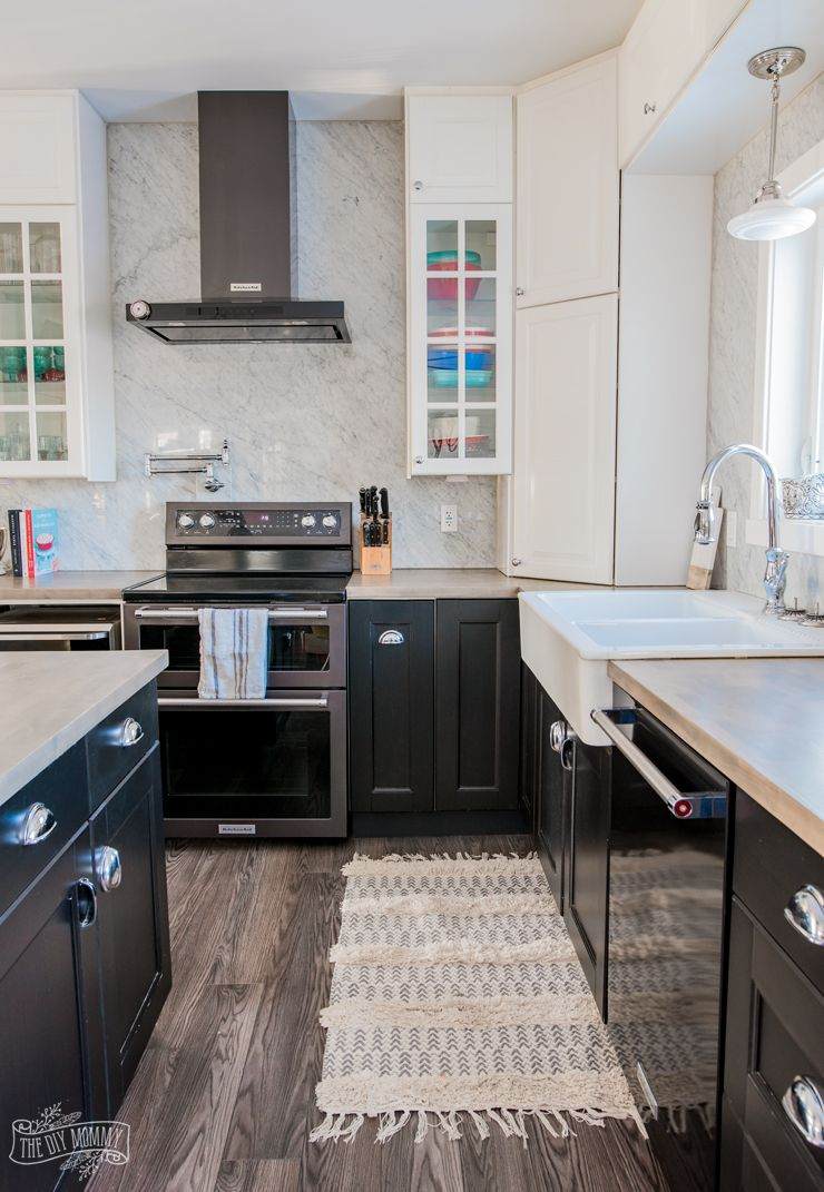 Our Kitchen Makeover With Black Stainless Steel Appliances The Diy Mommy Black Stainless Steel Appliances Black Stainless Steel Kitchen Black Appliances Kitchen
