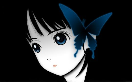 A beautiful picture of #Cute_Girl #Face With #Butterfly #anime downloaded from http://alliswall.com