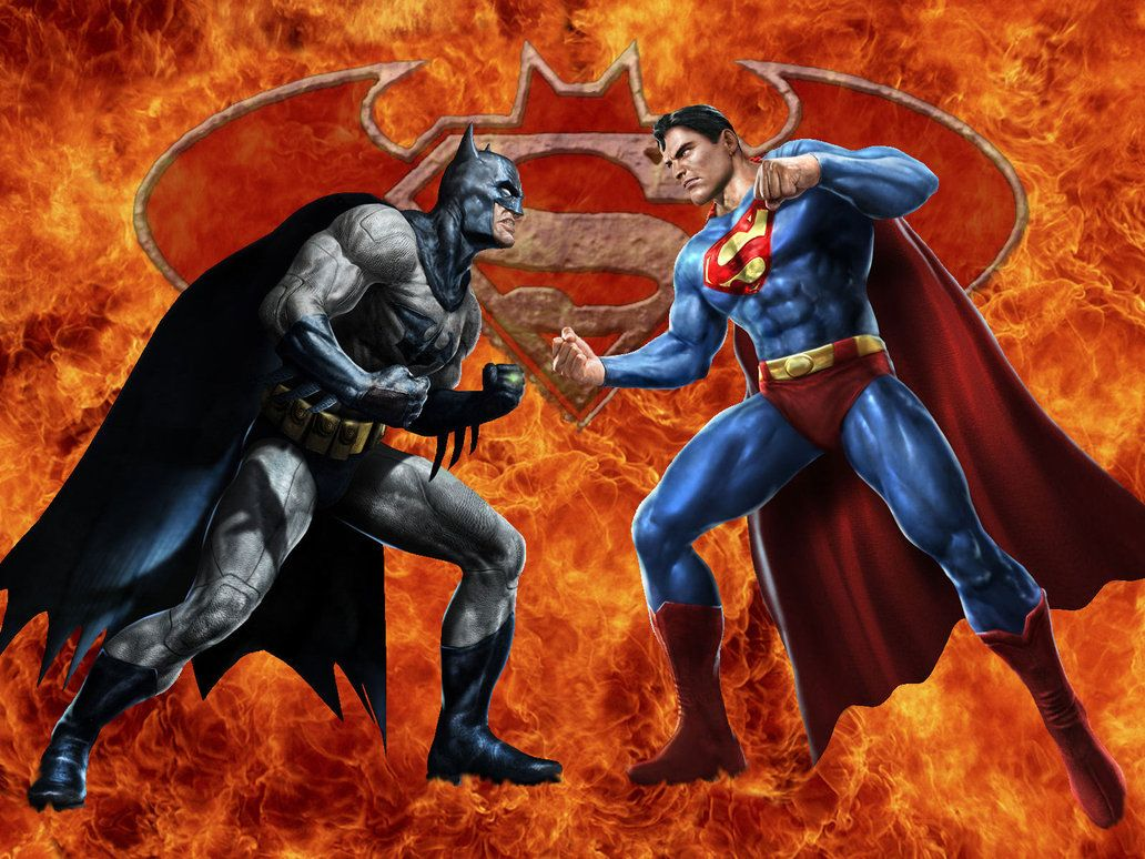 superman vs batman when heroes collide