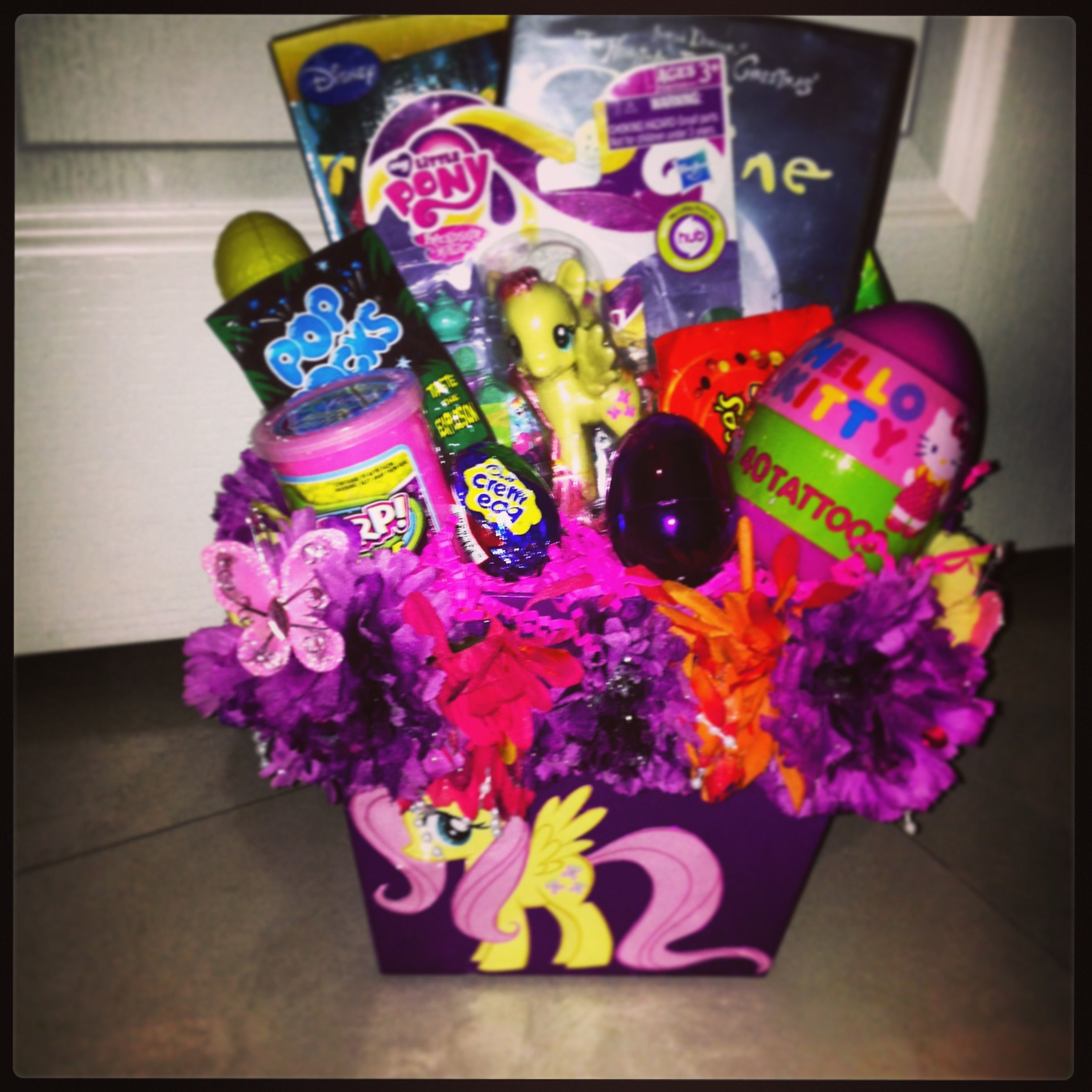 Diy My Little Pony Easter Basket Can Get Mlp Stickers To Decorate Basket And Fill With Mlp Goo S