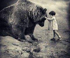 BIG bear- little girl