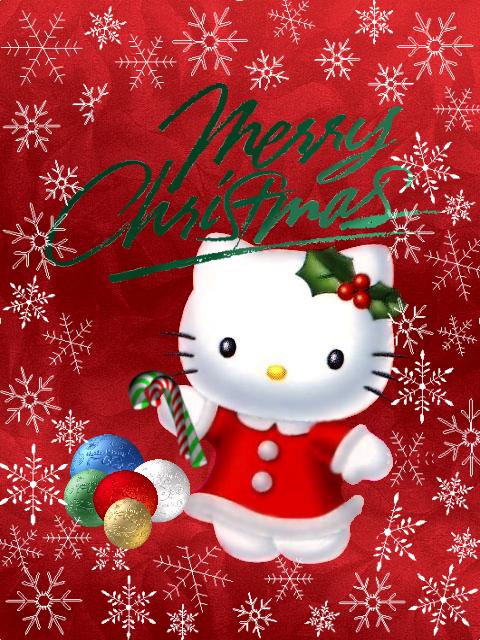 My Hello Kitty Christmas Card By Tnbrat On Deviantart Hello Kitty Christmas Hello Kitty Wallpaper Hello Kitty
