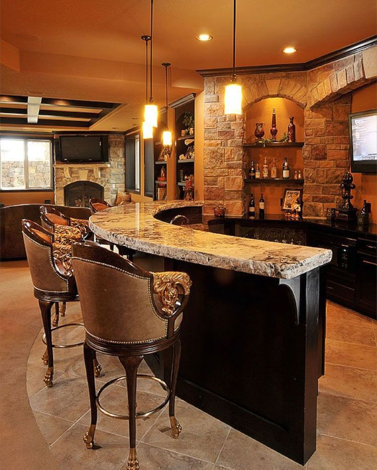 Home Bars Design Ideas: 59 Best Basement Bar Ideas: Cool Home Bar Designs (2020
