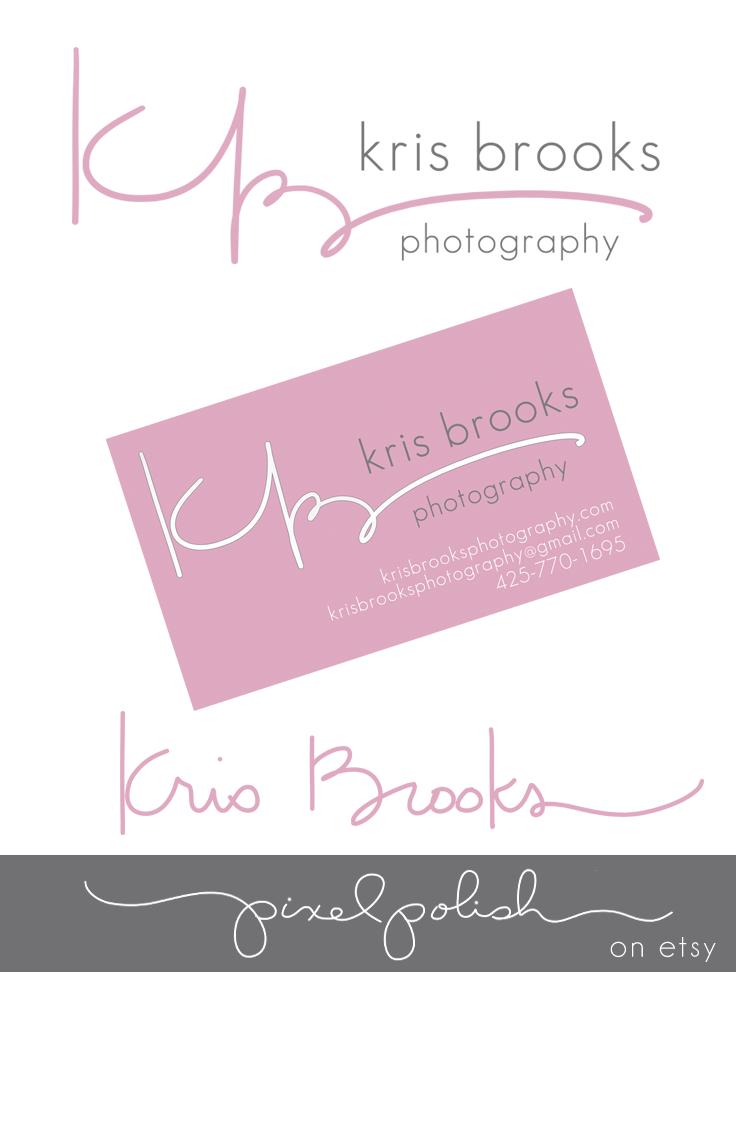 Handwritten initials, signature watermark and business card design ...
