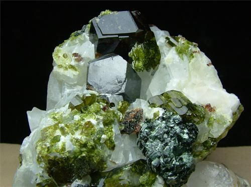 Andradite With Epidote & Clinochlore ~ Mawi, Nuristan Province, Afghanistan