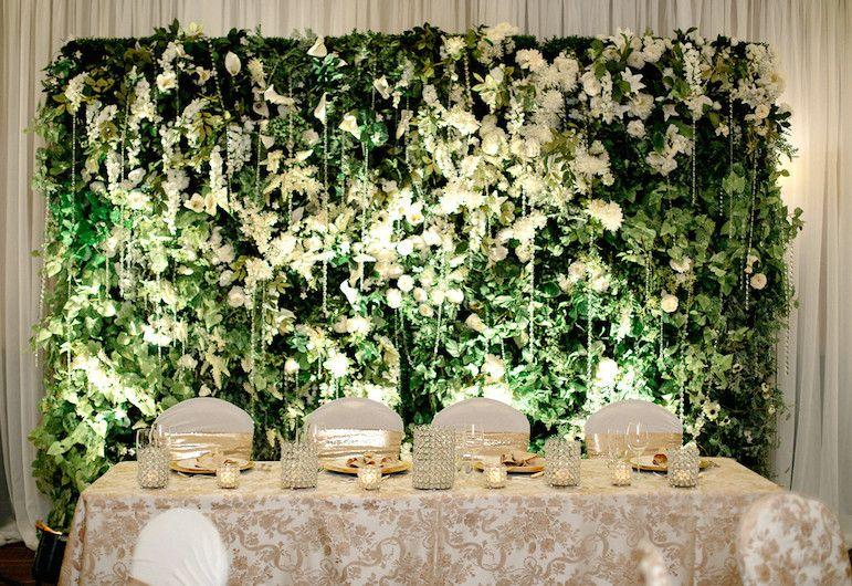 Wedding Wall Decor floral wedding wall hush soiree greenscape design & decor kimye