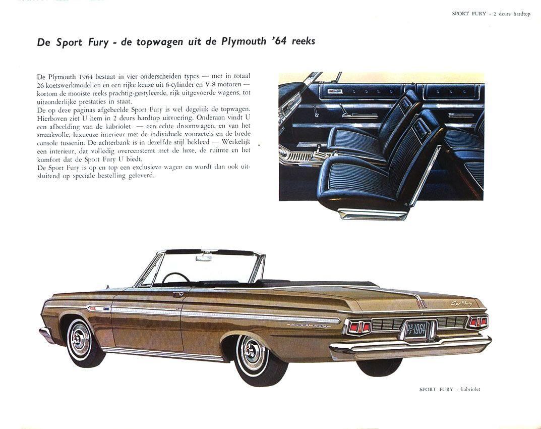 1964 Plymouth Fury Auto Brochure Car Brochures 1960 Station Wagon