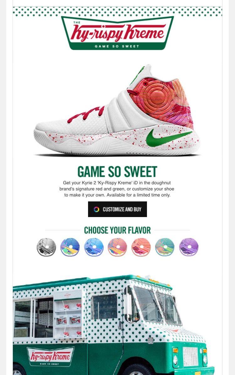 uk availability 2f398 df98f Kyrie 2 Krispy Kreme id By Nike and Krispy Kreme