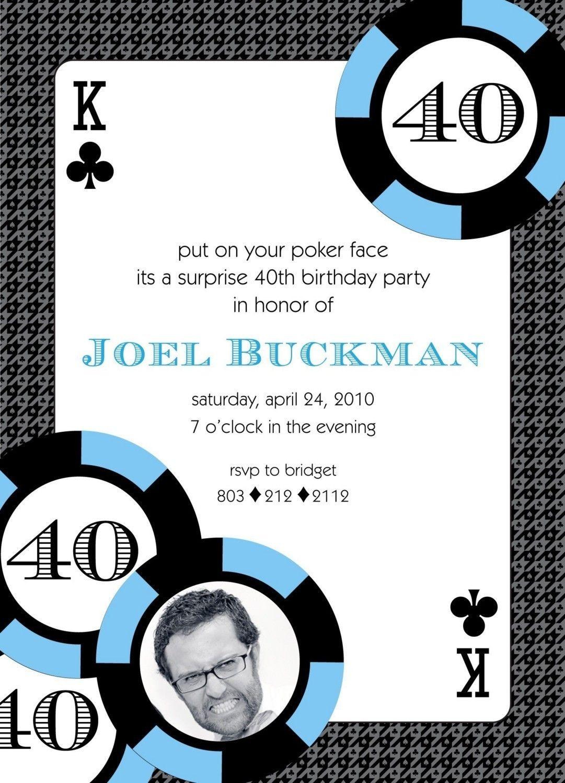 CASINO Poker Vegas Birthday Party Invitation by andersruff Simple ...