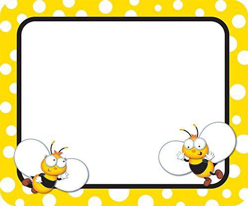 Buzz Worthy Bees Name Tags CarsonDellosa http//smile