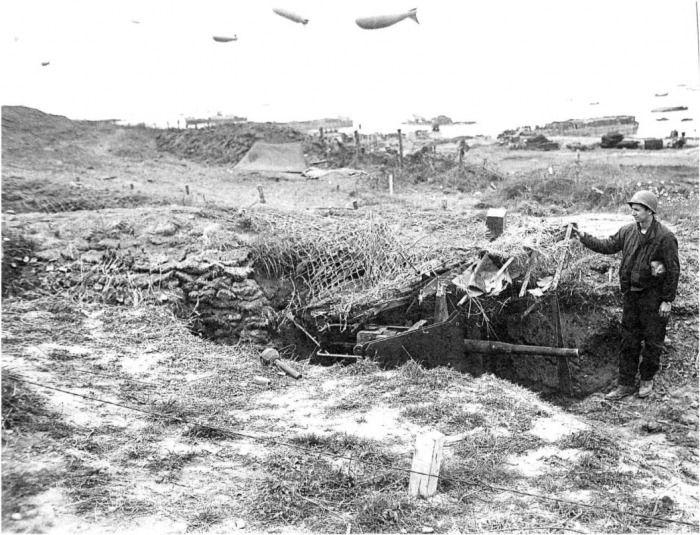 German 50 Mm Anti Tank Gun: Concealed German 50mm Anti-tank Gun In Resistance Nest