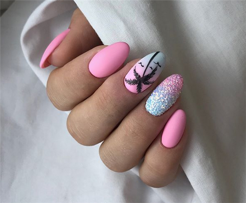 Best Summer Matte Nails Designs You Must Try #mattenails