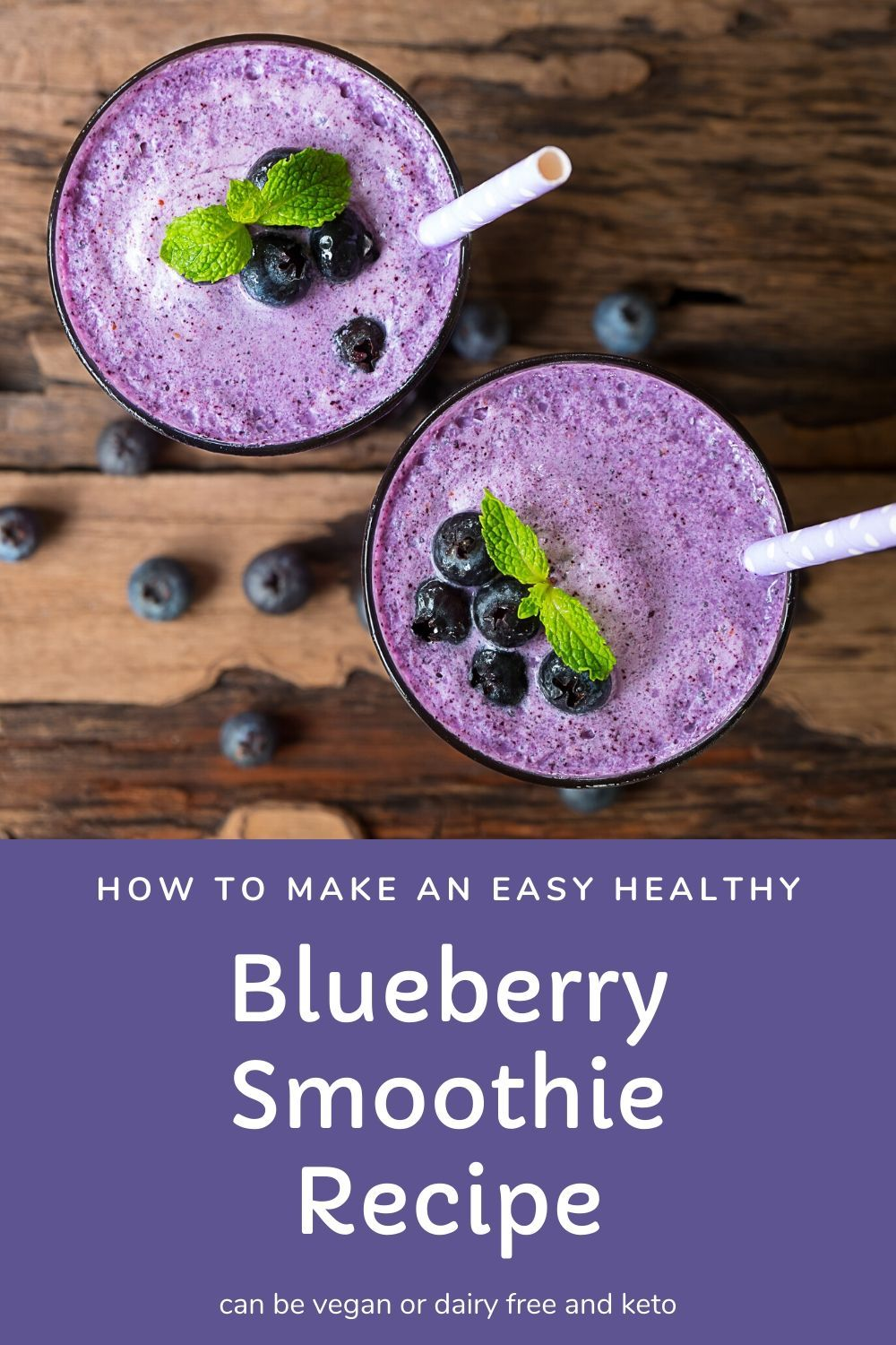 Blueberry smoothie recipe without banana in 2020
