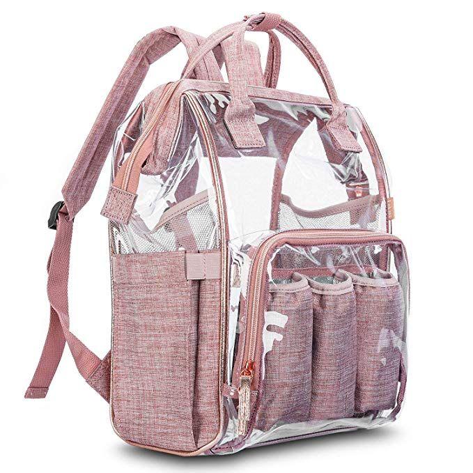 meilleur grossiste design de qualité authentique Amazon.com: LOKASS Clear Backpack Transparent Multi-Pockets ...