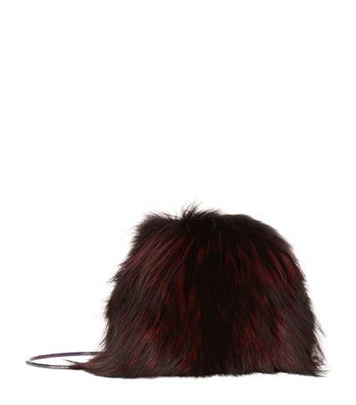 DIANE VON FURSTENBERG Love Power Fox Puff Bag. #dianevonfurstenberg #bags #shoulder bags #clutch #fur #hand bags #