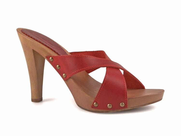 93bec3dbec63d Sexy wooden clogs high heels and red leather - Italian Boutique $75 ...