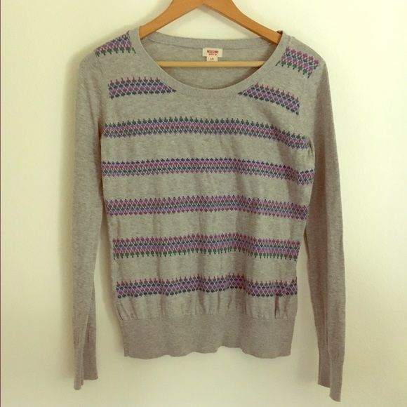 Mossimo sweater Nice Mossimo grey sweater. Used a couple of times but in good condition. Mossimo Supply Co Sweaters Crew & Scoop Necks