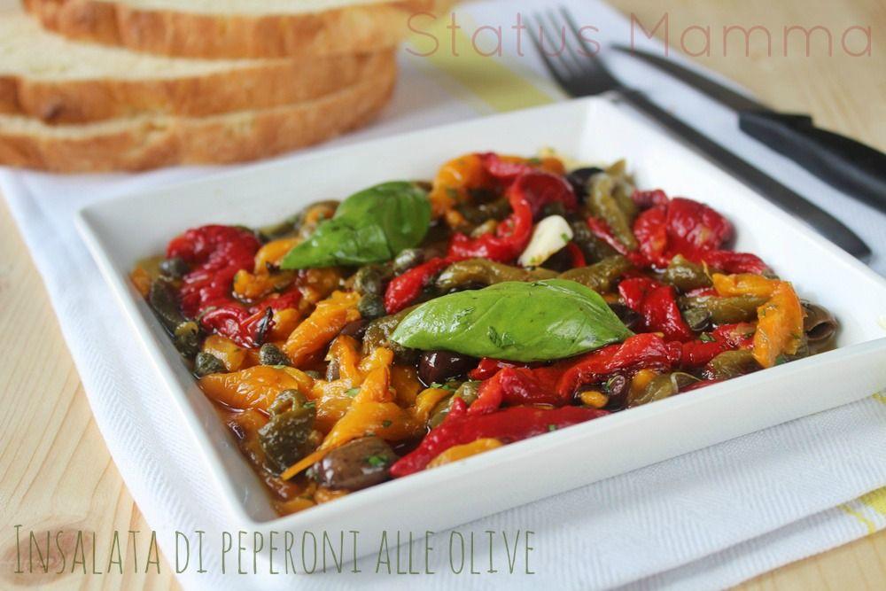 insalata di peperoni alle olive | oliven, pasta und anleitungen - Cucinare Vegetariano Ricette