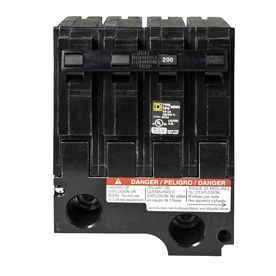 Square D Homeline 200 Amp 2 Pole Standard Trip Circuit Breaker Hom2200bb In 2020 Circuit Amp Lowes