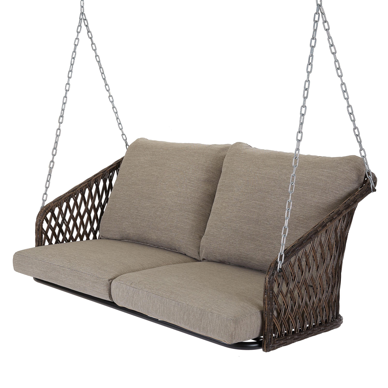 Patio & Garden Wicker porch swing, Porch swing, Grey