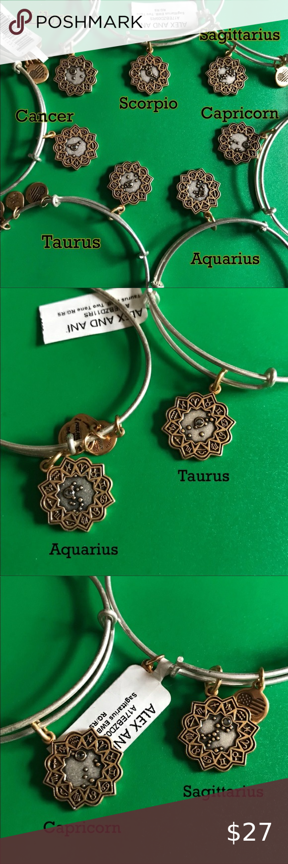 Alex and Ani two tone zodiac bangles astrology NWT The price is for *each*…