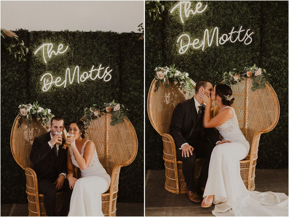 Rachel and Derek // All Out Floral Wedding at The