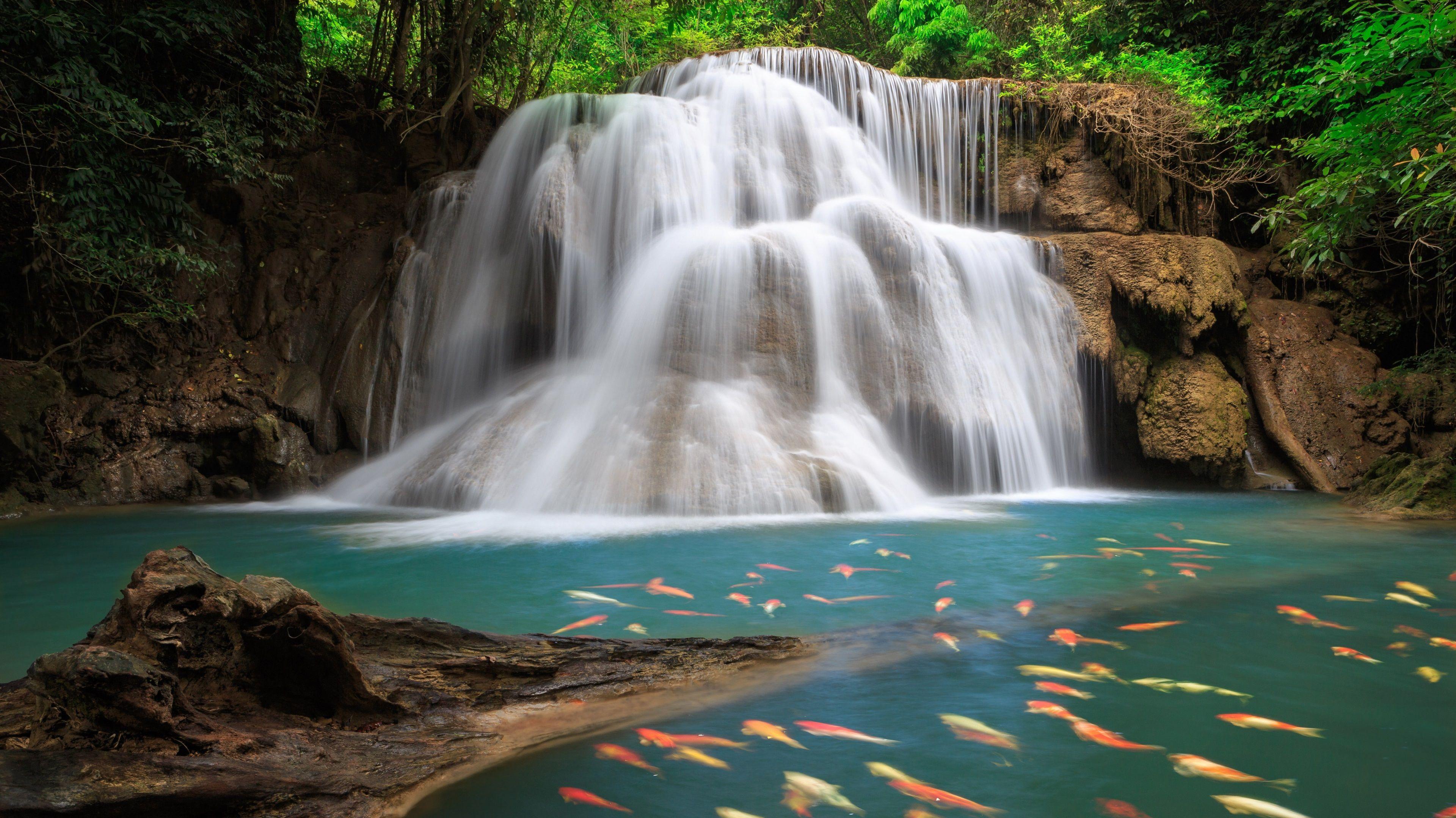 خلفيات طبيعية عالية الجودة 4k Ultra Hd Tecnologis Waterfall Wallpaper Waterfall Scenery