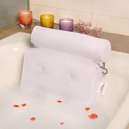 Zynet Home Spa Bathtub Pillow Bath Pillow Anti Bacteria For Neck
