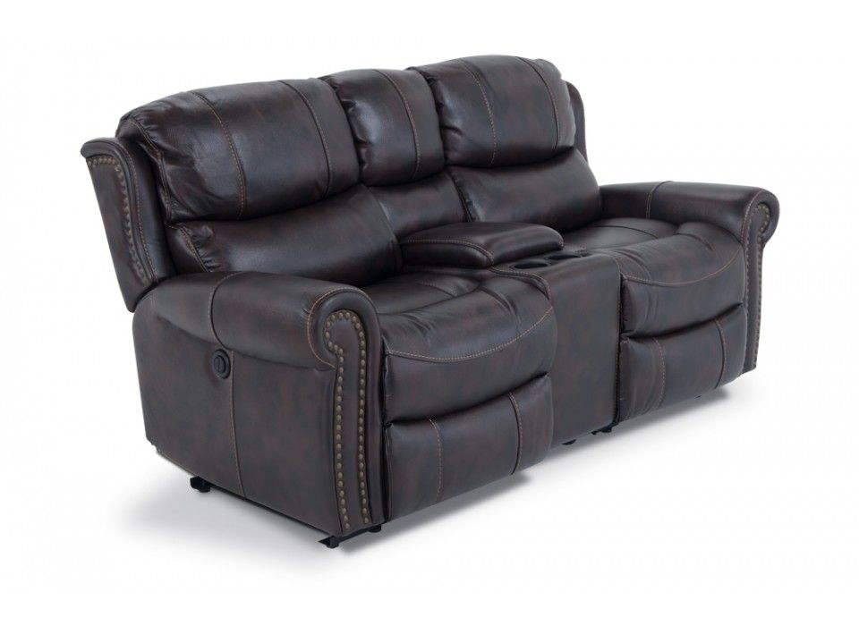 Lannister Power Reclining Console Loveseat Media Game