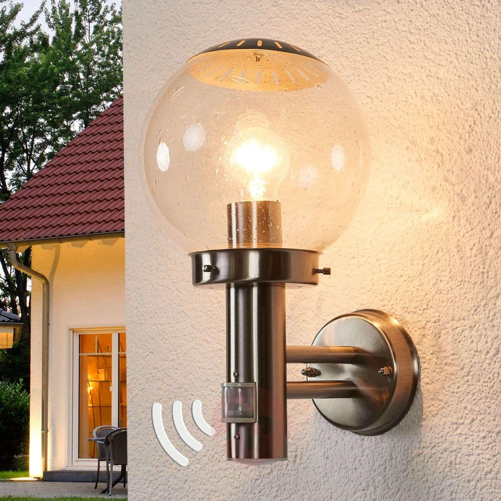 Zewnętrzna Lampa ścienna Bowle Z Czujnikiem Ruchu Lampy