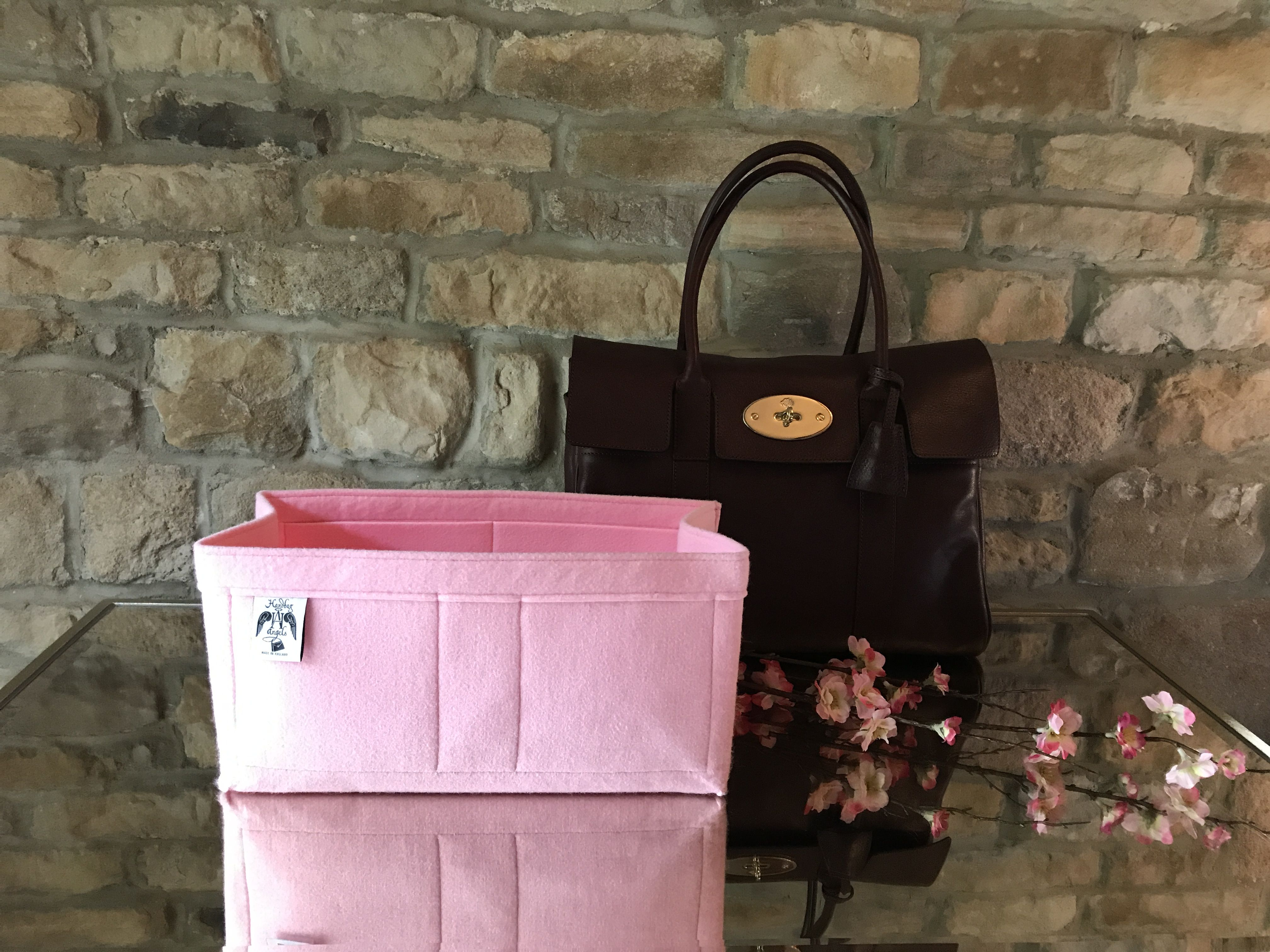 Whisper Pink Luxury Handbag Organiser For Classic Bayswater