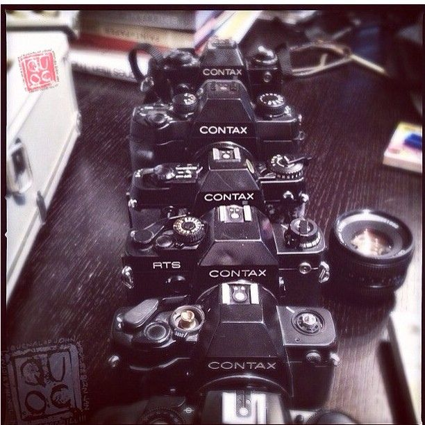I cherish every workhorse camera I have ever owned #contax #cameralust #analog, via Flickr.