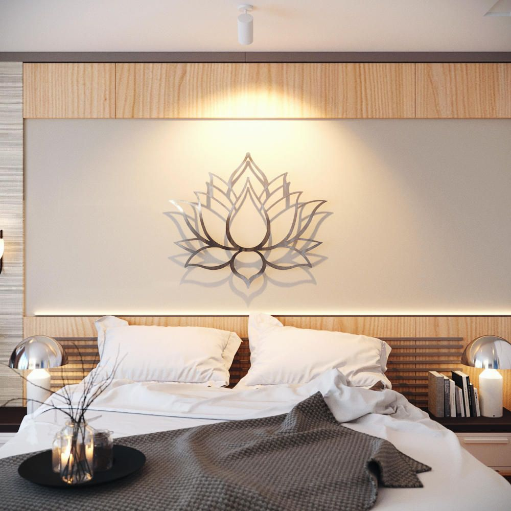Lotus Flower Large 7D Metal Wall Art Meditation Wall Art  Etsy