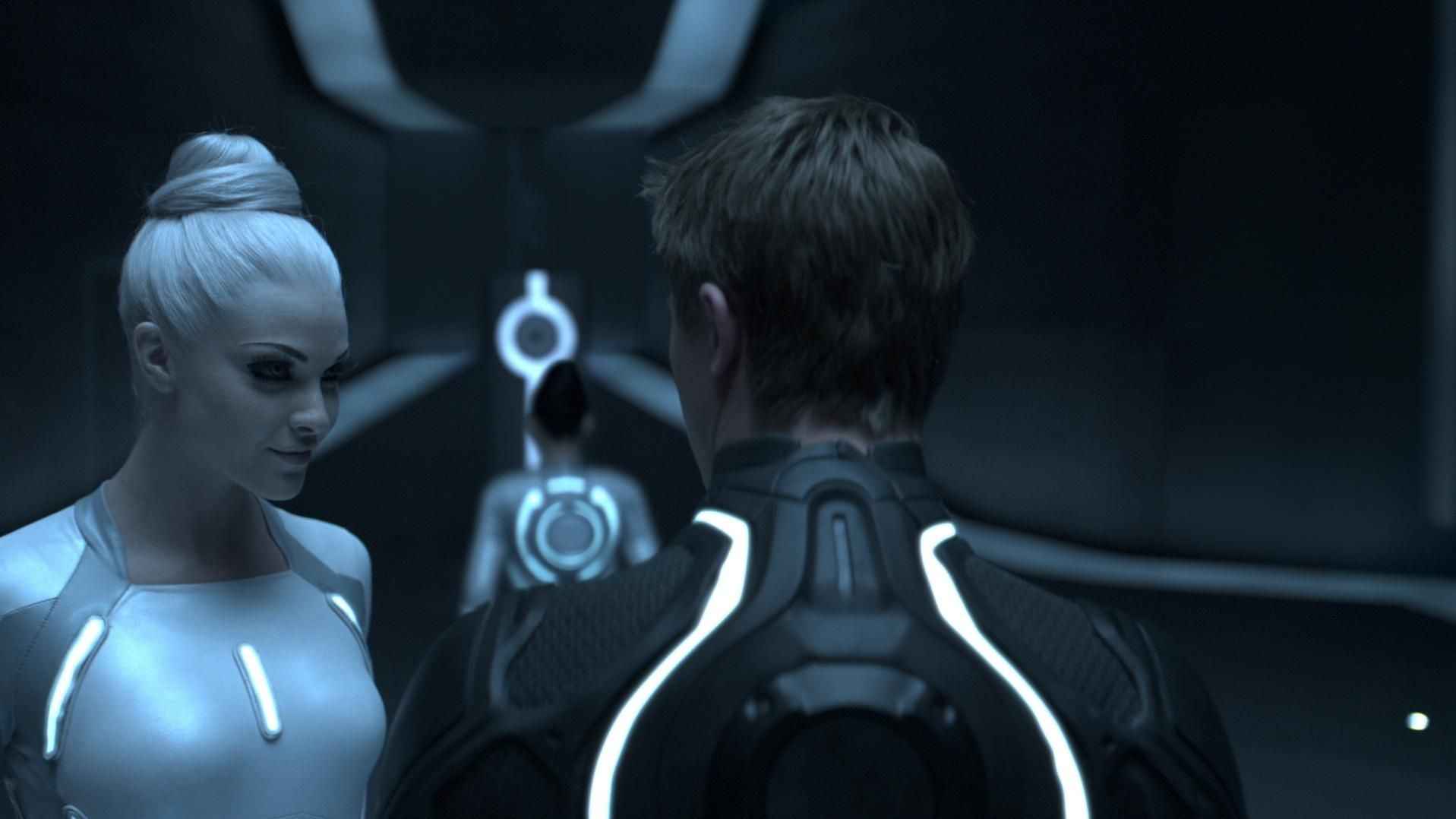 still of garrett hedlund and beau garrett in tron: legacy (2010