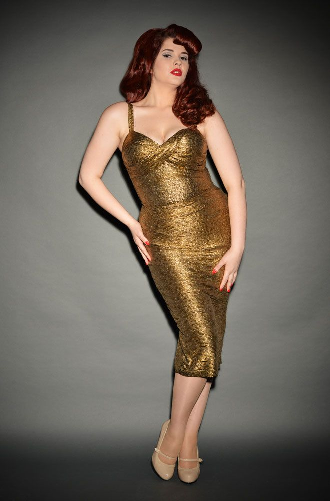 Golden Glam Vintage Hollywood Party Dress At Deadly Is The Female Http