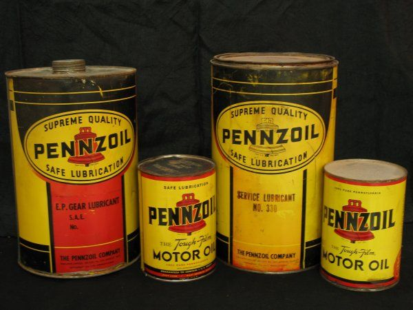Antique Vintage Old Style Pennzoil Oil Can Sign