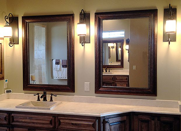 Custom Framed Bathroom Mirrors Home Decoration Ideas