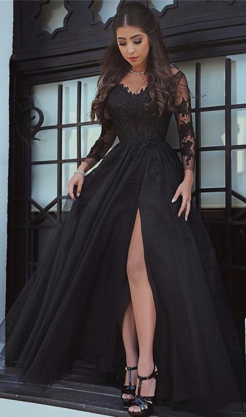 Glamorous Long Sleeve Prom Dress 306e29325def