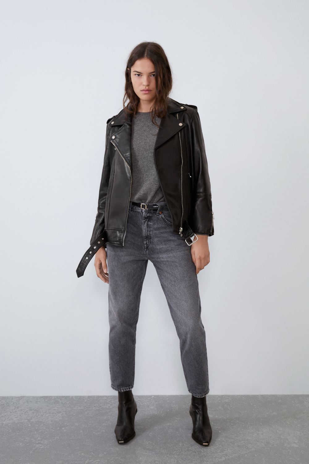 Women S Jackets New Collection Online Zara United States Leather Jacket Jacket Outfit Women Leather Jacket Outfits [ 1500 x 1000 Pixel ]