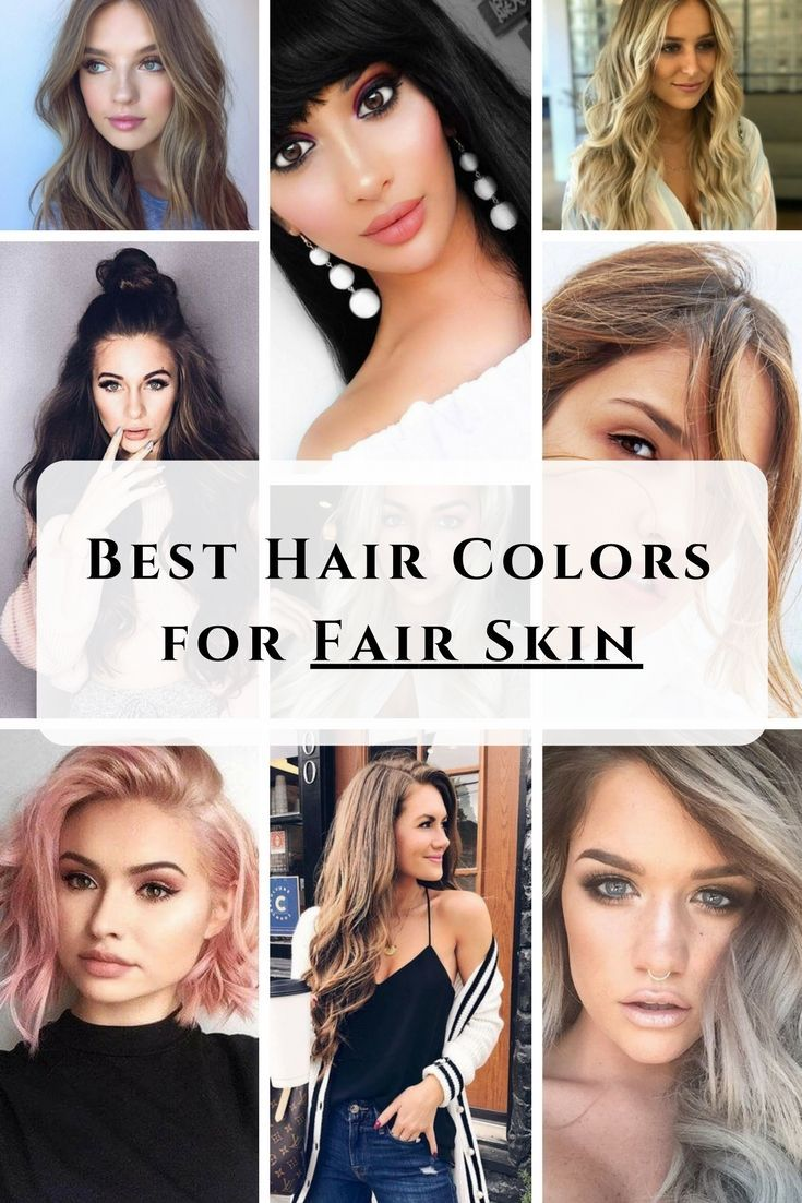 Best Hair Colors For Fair Skin Examples Not To Miss Hair