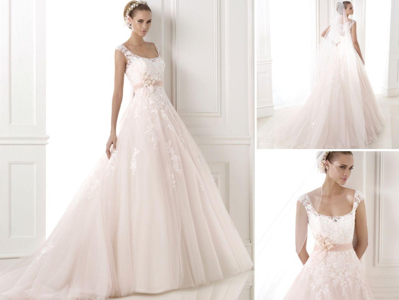 Dress of the week pronovias a square neck designer bridal