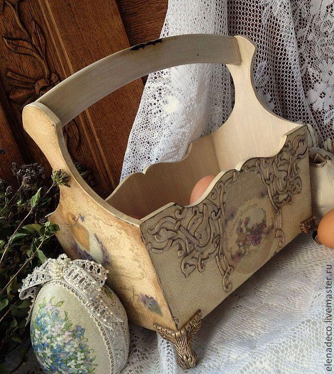 "Baskets, boxes handmade. Fair Masters - handmade. Buy ""Easter joy"" Easter basket. Handmade. Easter tray"