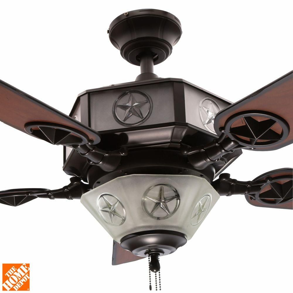Aged Copper And White Rock Ceiling Fan