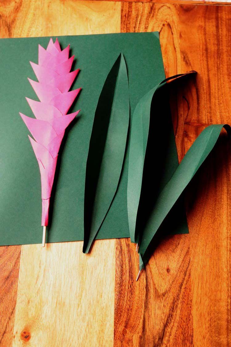 Paper Plant A Bromelaid Diy Tutorial Paper Plants Paper