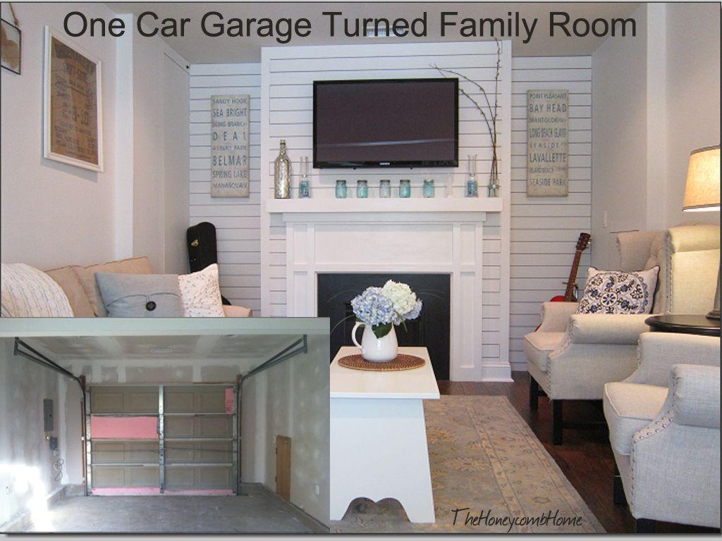 Garage Makeover Garage conversion to family room, Garage