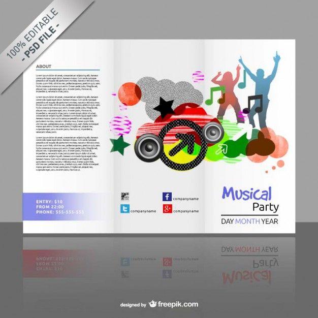 plantilla de tríptico editable gratis psd gratis diseño
