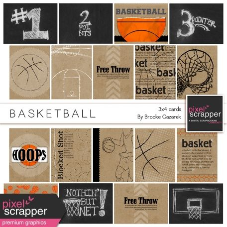 Basketball Champ Karen Foster Scrapbook Page Kit 12 by 12-Inch