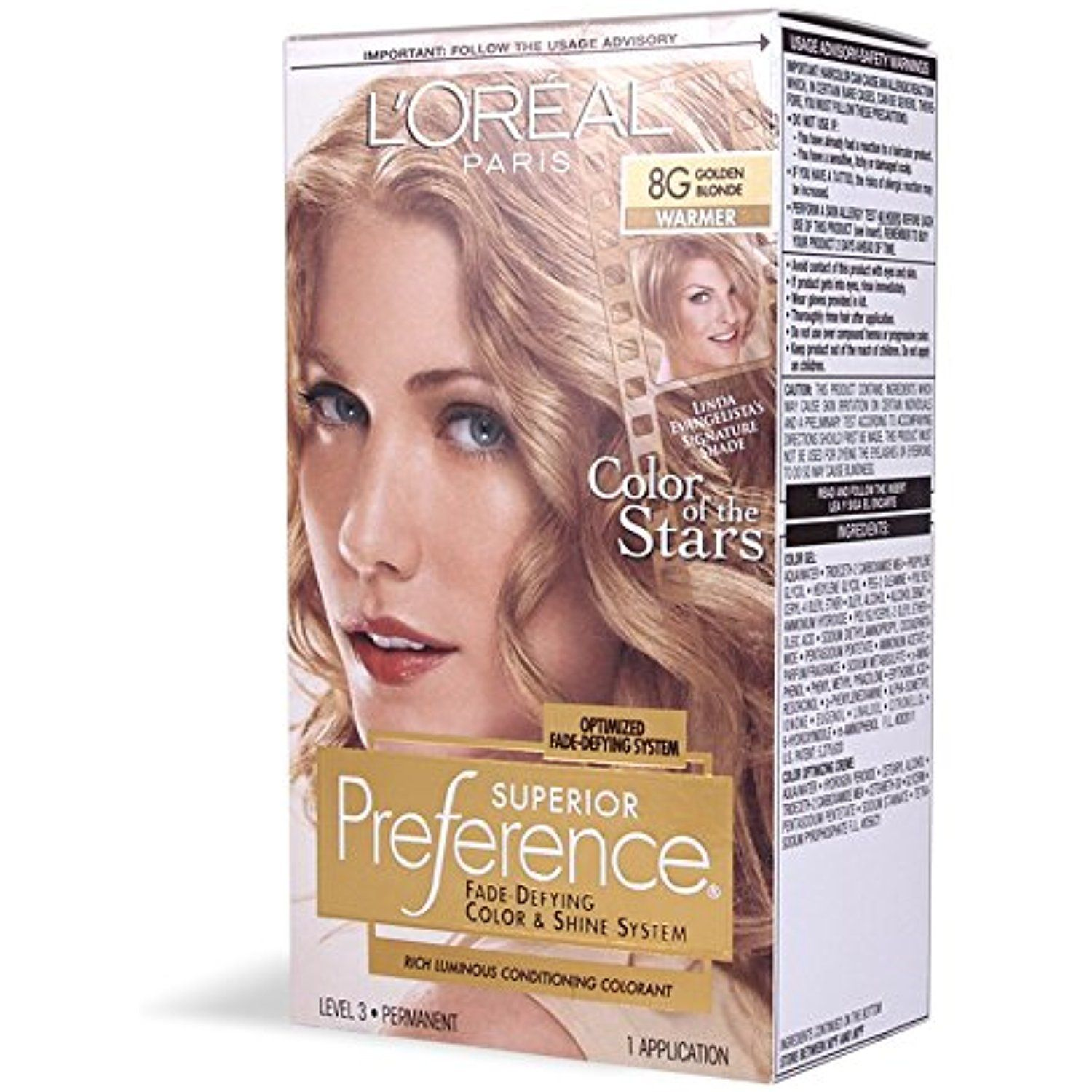 Loreal Superior Preference Hair Color 8g Golden Blonde 1 Ea Pack